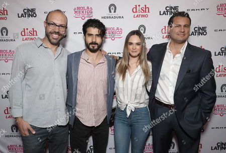 Stock Picture of Festival Founder/Director Samuel Douek, Jose Angel Bichir, Fabiola Guajardo and Producer Gaston Pavlovich