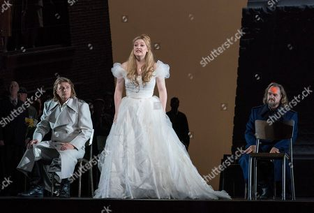 Klaus Florian Vogt as Lohengrin, Jennifer Davis as Elsa, Thomas J Mayer as Telramund