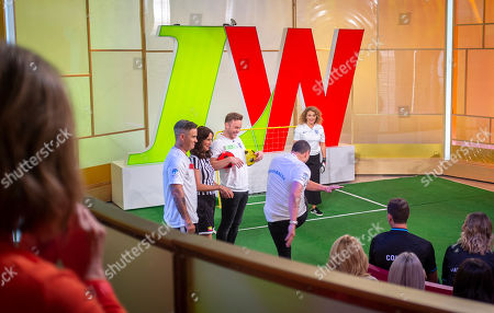 Andrea McLean, Nadia Sawalha, Kaye Adams, Ayda Field, Robbie Williams, Paddy McGuinness, Brendan Cole and Olly Murs