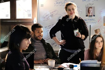 Stock Image of Constance Zimmer, Jeffrey Bowyer-Chapman, Stacey Farber, Genevieve Buechner