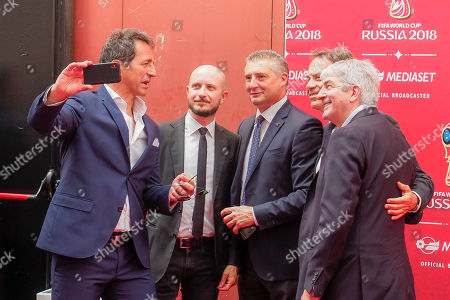 Editorial picture of Mediaset FIFA World Cup TV Show press conference, Milan, Italy - 07 Jun 2018
