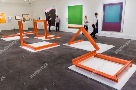 Sextet by William Turnbull, est £60-80,000 Modern and Post-War British Art, part of Modern British Art Week Sotheby's New Bond Street, London, on 12-13 June 2018.