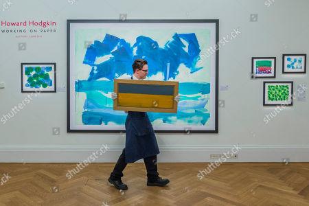 Working on Paper by Howard Hodgkin, est £10-15,000