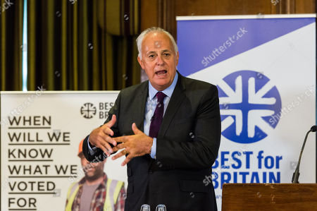 Chairman Lord Mark Malloch Brown takes part in the Q&A session as pro-EU group Best for Britain launch their campaign manifesto to stop Brexit and to keep the UK in the European Union