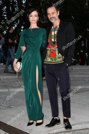 Stock Picture of Milan, Convivio gala evening. in the photo: Fabio Novembre, Francesca Cavallin