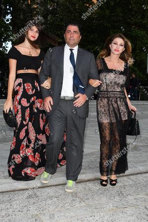 Milan, Convivio gala evening. in the photo: Marco De Benedetti, Paola Ferrari