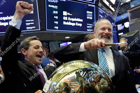 David Cote, Chris Taylor. GS Acquisition Holdings Corp. CEO David Cote, right, rings a ceremonial bell on the floor of the New York Stock Exchange, as his company's IPO begins trading, . At left is NYSE Vice President Chris Taylor