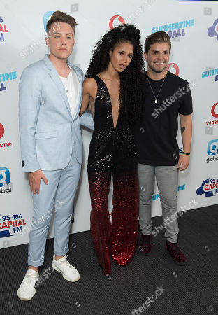 Roman Kemp, Vick Hope and Sonny Jay