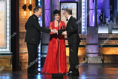 Stock Image of Sir Andrew Lloyd Webber, Chita Rivera, David Cromer
