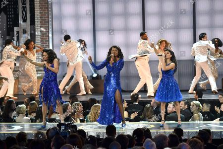 LaChanze, the cast of 'Summer: The Donna Summer Musical'