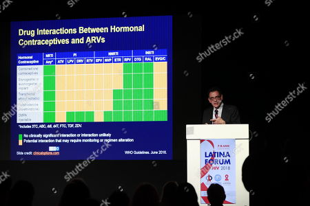 The person in charge of HIV of the Ministry of Health of Chile, Carlos Beltran participates in the Latina Forum on HIV in Mexico City, Mexico, 08 June 2018. Experts in HIV / AIDS in Latin America meet to present scientific advances and new prevention strategies and treatments for the Human Immunodeficiency Virus (HIV).