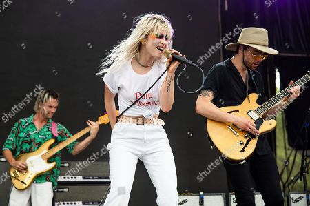 Joey Howard, Haley Williams, Taylor York. Joey Howard, from left, Haley Williams and Taylor York of Paramore performs at the Bonnaroo Music and Arts Festival, in Manchester, Tenn