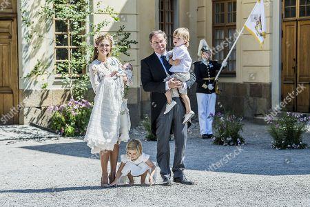Princess Madeleine, Princess Adrienne, Princess Leonore, Chris O'Neill, Prince Nicolas,