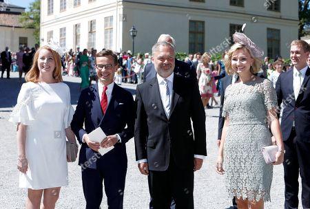 Annie Loof, Ulf Kristersson, Jan Bjorklund and Ebba Busch Thor