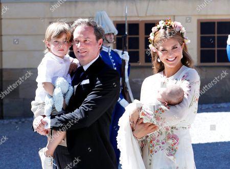 Chris O'Neill, Prince Nicolas, Princess Madeleine, Princess Adrienne