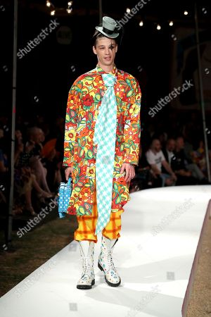 Stock Photo of Ash Stymest on the catwalk