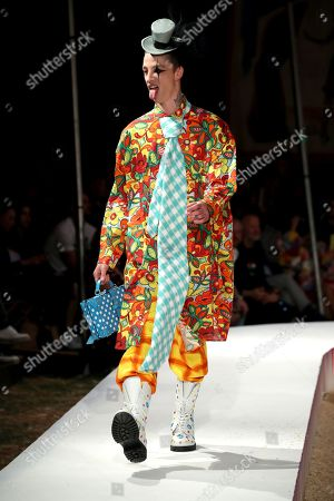 Ash Stymest on the catwalk