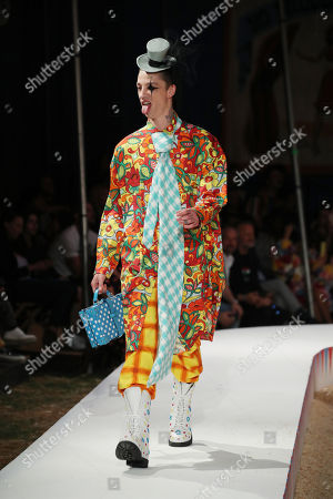 Stock Picture of Ash Stymest on the catwalk
