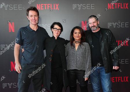 Chris Mundy, S J Clarkson, Veena Sud and Scott Frank