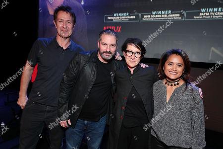 Chris Mundy, Scott Frank, S J Clarkson and Veena Sud