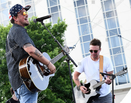 Stock Image of Stephen Baker Liles and Eric Gunderson of Love and Theft