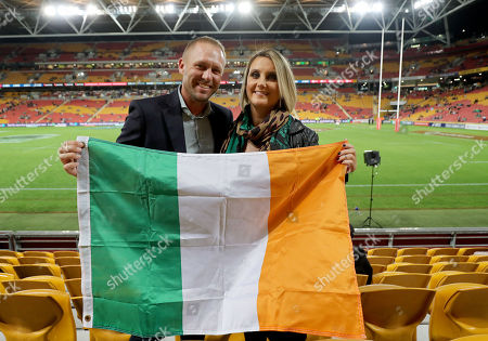 9/6/2018. Australia vs Ireland. Former Connacht and Munster player Paul Warwick and wife Carol