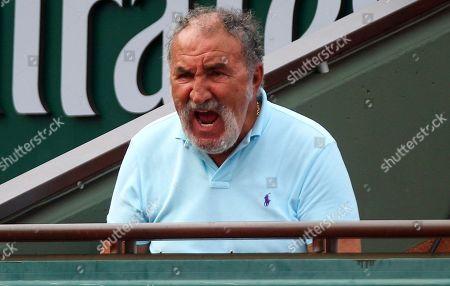 Ion Tiriac reacts while watching the Women's Singles Final