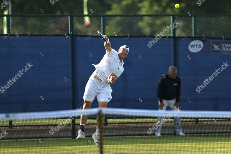 Illya Marchenko (UKR) serves during his Men's Singles qualifying match against Jack Findel-Hawkins (GBR) at the 2018 Nature Valley Open at Nottingham Tennis Centre, Nottingham. Picture by Katy Blackwood