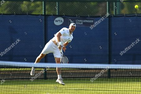 Illya Marchenko (UKR) in action at the 2018 Nature Valley Open (Nottingham Open) at Nottingham Tennis Centre, Nottingham. Picture by Katy Blackwood