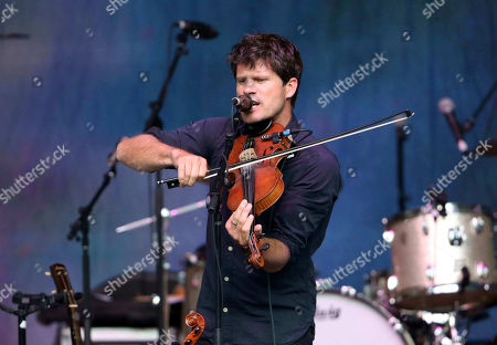 Seth Lakeman performs as the opener for Robert Plant and the Sensational Space Shifters at the State Bank Amphitheatre at Chastain Park, in Atlanta