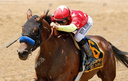 ABEL TASMAN (Mike Smith) wins The Ogden Phipps Stakes Belmont Park