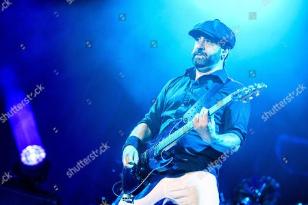 Rob Caggiano of Danish rock band Volbeat, performs on the main stage (Jungfrau stage), during the Greenfield Openair Festival in Interlaken, Switzerland, 09 June 2018 (issued 10 June). The festival runs from 07 to 09 June.