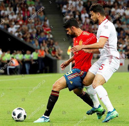 Diego Costa and Oussama Haddadi