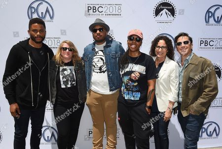 Marcy Ross, Nnamdi Asomugha, Dan Bucatinsky, Mel Eslyn, Justin Simien, Lena Waithe. Marcy Ross, Nnamdi Asomugha, Dan Bucatinsky, Mel Eslyn, Justin Simien and Lena Waithe attend the first day of the 10th Annual Produced By Conference at Paramount Pictures on in Los Angeles