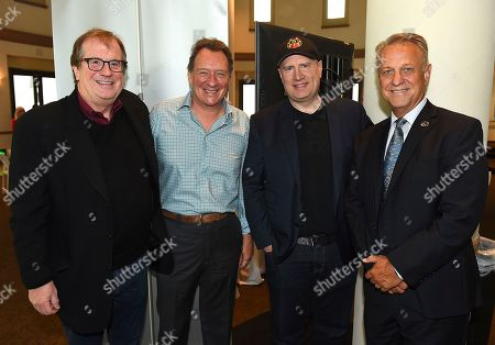 Pete Hammond, Gary Lucchesi, Kevin Feige, Vance Van Petten. From left, Pete Hammond, Gary Lucchesi, Kevin Feige and Vance Van Petten attends the first day of the 10th Annual Produced By Conference at Paramount Pictures on in Los Angeles