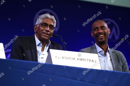 Stock Picture of Ashok Amritraj, Charles D. King. Ashok Amritraj and Charles D. King attend the first day of the 10th Annual Produced By Conference at Paramount Pictures on in Los Angeles