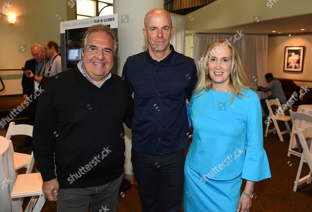 Stock Image of Jim Gianopulos, Neal H. Moritz, Susan Sprung. From left, Jim Gianopulos, Neal H. Moritz and Susan Sprung attend the first day of the 10th Annual Produced By Conference at Paramount Pictures on in Los Angeles