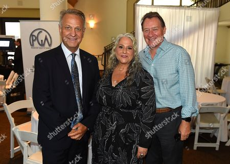 Vance Van Petten, Marta Kauffman, Gary Lucchesi. From left, Vance Van Petten, Marta Kauffman and Gary Lucchesi attend the first day of the 10th Annual Produced By Conference at Paramount Pictures on in Los Angeles