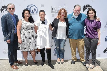 Warren Littlefield, Jenelle Riley, Ane Crabtree, Sherry Thomas, Bruce Miller, Beatrice Springborn. Warren Littlefield, from left, Jenelle Riley, Ane Crabtree, Sherry Thomas, Bruce Miller and Beatrice Springborn attend the first day of the 10th Annual Produced By Conference at Paramount Studios, in Los Angeles
