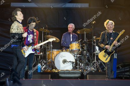 The Rolling Stones - Mick Jagger, Ronnie Wood,, Charlie Watts and Keith Richards