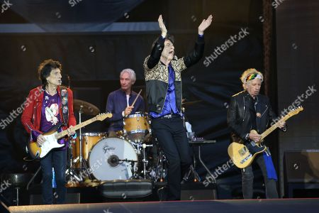 The Rolling Stones - Ronnie Wood, Charlie Watts, Mick Jagger and Keith Richards