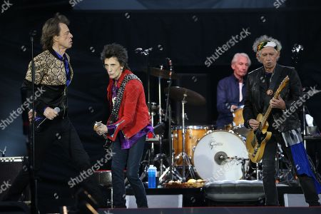 The Rolling Stones - Mick Jagger, Ronnie Wood, Charlie Watts and Keith Richards