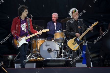 The Rolling Stones - Ronnie Wood, Charlie Watts and Keith Richards