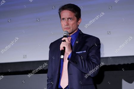 Oceanographer Fabien Cousteau during a panel discussion held on the occasion of World Oceans Day.