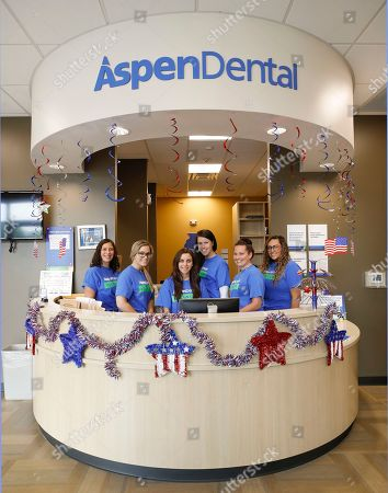 The staff who volunteered their time during Aspen Dental Day of Service on in Bloomingdale, Ill. They are (L to R) Laura Spawn, Nicole Mucha, Dr. Kristen Ramirez, Dr. Abigail Brier, Kathy O'Shaughnessy, and Arianna Villarrubia