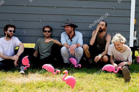 Pond - Nick Allbrook, Kevin Parker, Jay Watson, Cameron Avery, Shiny Joe Ryan and Jamie Terry