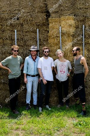 Stock Picture of Pond - Nick Allbrook, Kevin Parker, Jay Watson, Cameron Avery, Shiny Joe Ryan and Jamie Terry