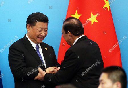 Mamnoon Hussain and Xi Jinping