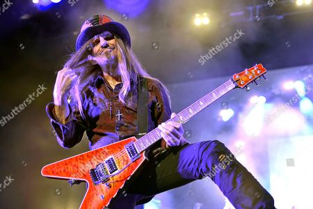 Editorial image of Poison in concert at the Hollywood Casino Amphitheatre, Tinley Park, USA - 09 Jun 2018