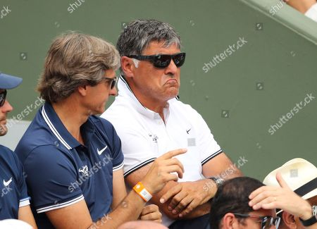 Stock Image of Toni Nadal looks on during the men's singles final
